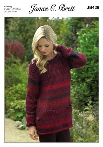 83a739bf3 James C Brett – JB426 – Chunky Knitting Pattern