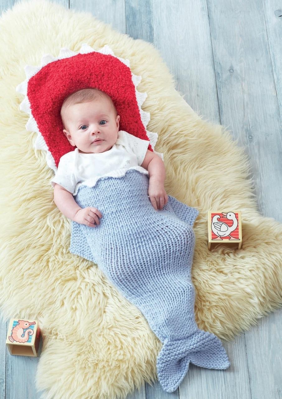 Hayfield – Baby – 7 years – Chunky Knit Shark Sleeping Bag pattern ...