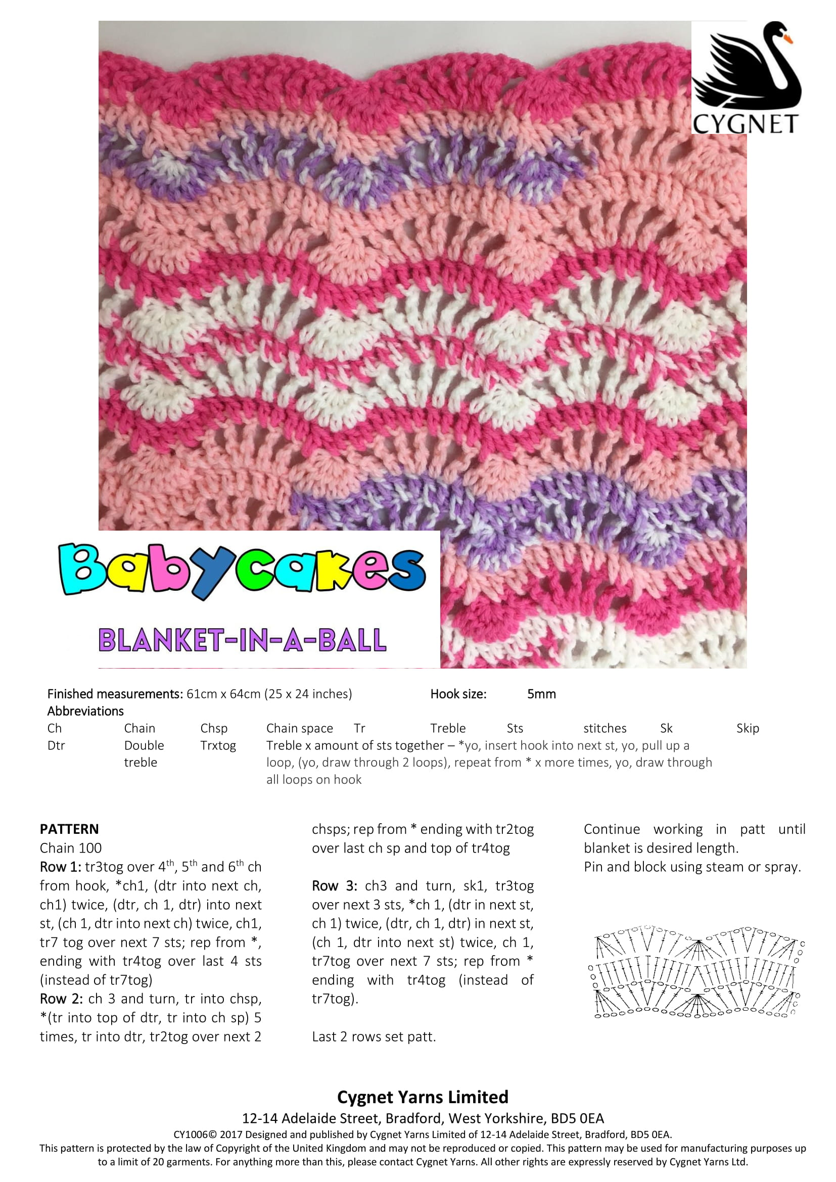 Baby Cakes Blanket In A Ball Free Crochet Baby Blanket Pattern