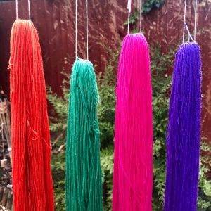 Hand Dyed Wool Skeins